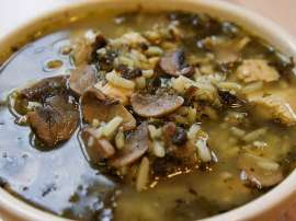 Mushroom And Rice Soup