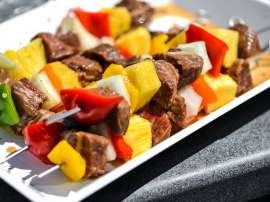 Papita Aur Beef Kabab