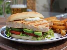 Fish Sandwich Dosa With Orange Sauce
