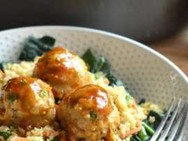 Chicken Ball With Fried Rice