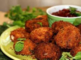 Potato And Beef Cutlets