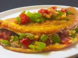 Fluffy Mexican Omelette