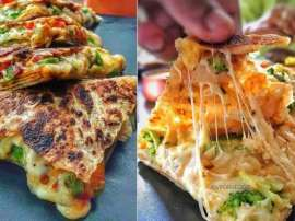 Cheesy Pizza Paratha