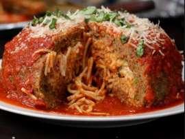 Spaghetti Stuffed Meatballs