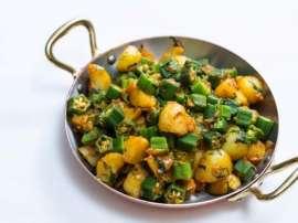 Bhindi Or Aloo Ki Karahi