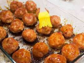 Glazed Chicken Pine Apple Balls