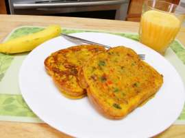Spicy Omelette Toast