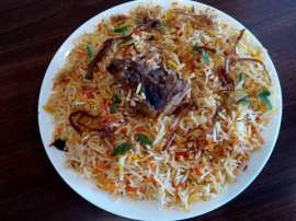 Hyderabadi Biryani And Beef Jalfrezi