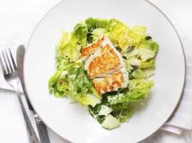 Pan Fried Fish And Vegetable Salad