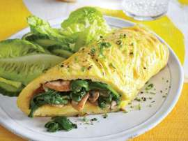 Meaty Spinach Omelette