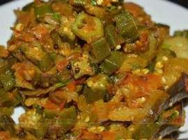 Ladyfingers Or Eggplant Ki Sabzi