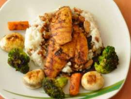 Chicken Breast With Vegetables Rice