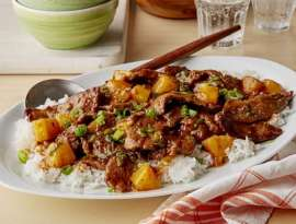 Beef Fried Rice With Grilled Pineapple