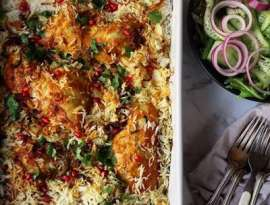 Baked Chicken Biryani