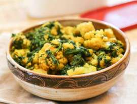 Palak Gobhi Chicken