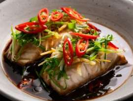 Singapore Fish With Ginger Sauce