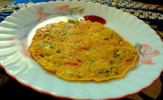 Besan Ka Omelette Recipe In Urdu