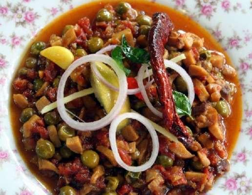 Dhingri Mutter Recipe In Urdu