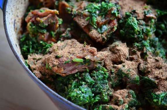 Kharfay Ka Saag Ghost Recipe In Urdu