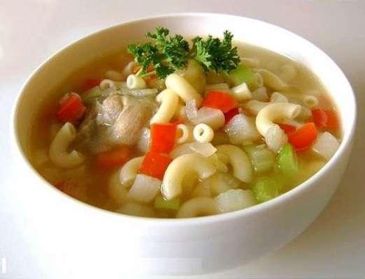 Sabzi Macaroni Soup Recipe In Urdu