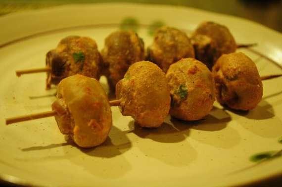 Mushroom Kay Seekhi Tikkay Recipe In Urdu