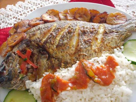 Fish Roast With Rice Recipe In Urdu