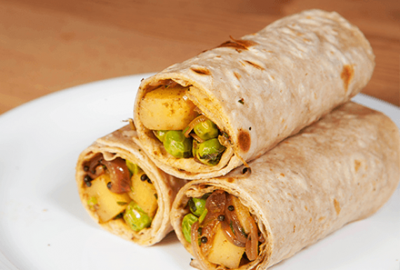Matar Aloo Kay Roll Recipe In Urdu