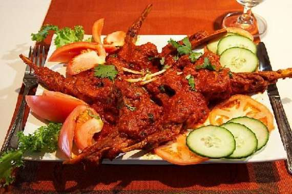 Roasted Champ With Spicy Sauce Recipe In Urdu