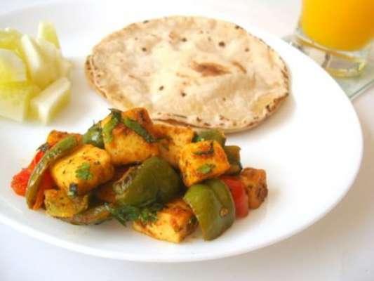 Paneer Aur Shimla Mirch Toast Kay Sath Recipe In Urdu