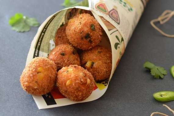 Paneer Potato And Corn Balls Recipe In Urdu