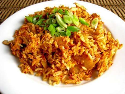 Fried Rice With Minced And Spring Onion Recipe In Urdu