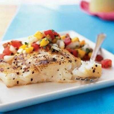 Grilled Fish With Mango Salsa Recipe In Urdu