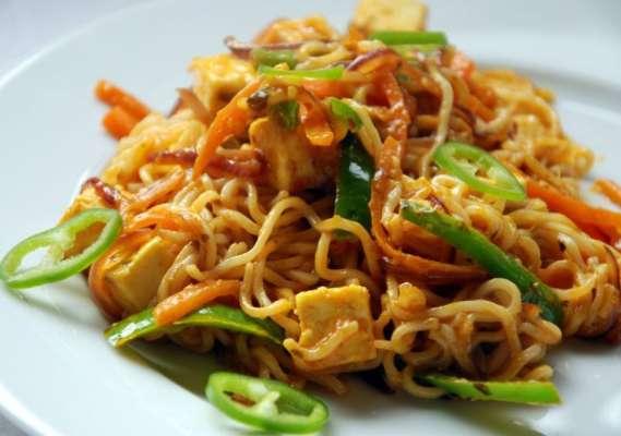 Chicken Karahi Noodles Recipe In Urdu