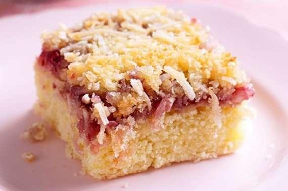Strawberry Coconut Slice Recipe In Urdu