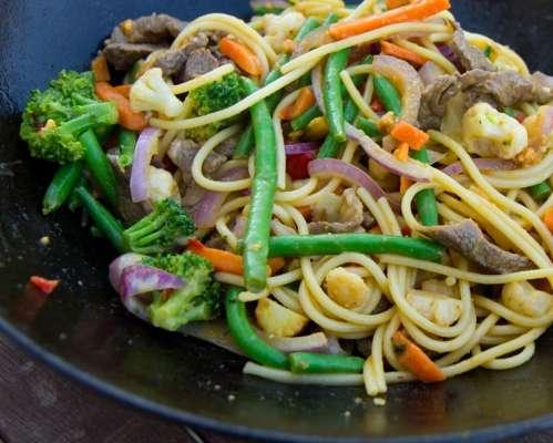 Stir Fried Jin And Prawns Recipe In Urdu