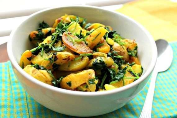 Haray Dhaniay Kay Aloo Recipe In Urdu