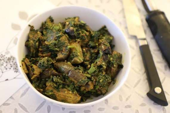 Aloo Palak Aur Baingan Recipe In Urdu