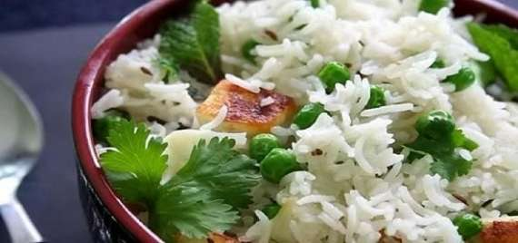 Matar Paneer Pulao Recipe In Urdu