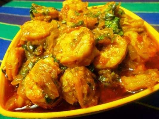 Kaju Jhingay Recipe In Urdu