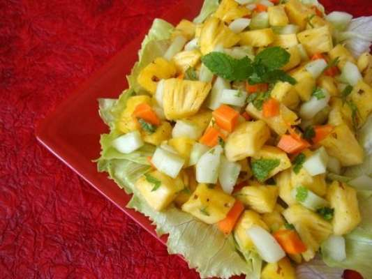 Pineapple Masla Salad Recipe In Urdu