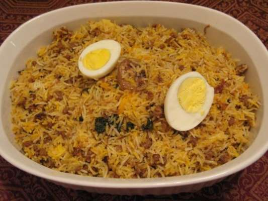 Keema Eggs Rice Recipe In Urdu