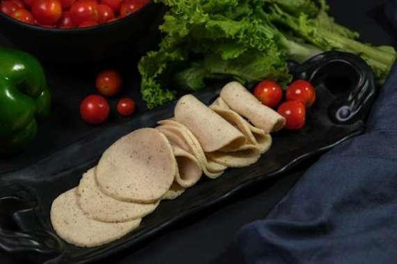 Homemade Chicken Salami With Salad Recipe In Urdu