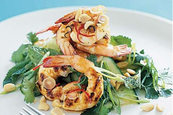 Thai Style Prawns Salad Recipe In Urdu