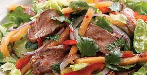 Kharbooza And Hunter Beef Salad Recipe In Urdu