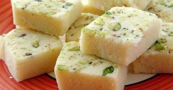 Pistay Ki Barfi Recipe In Urdu