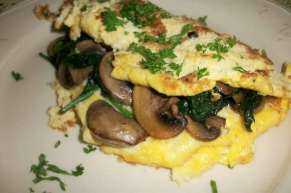 Sofly Omelette With Mushroom Sauce Recipe In Urdu