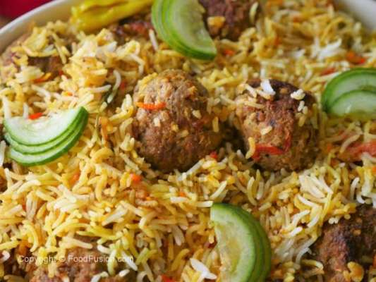 Zafrani Kofta Biryani Recipe In Urdu