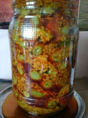 False Aur Chane Ka Achar Recipe In Urdu