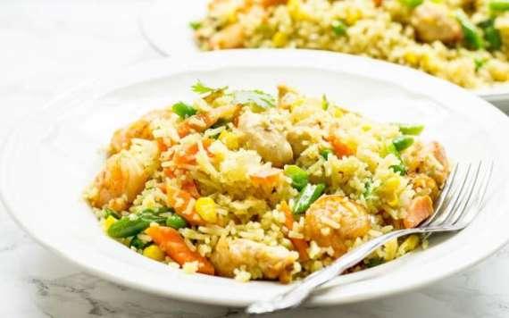Jhinga Chicken Chatpate Chawal Recipe In Urdu
