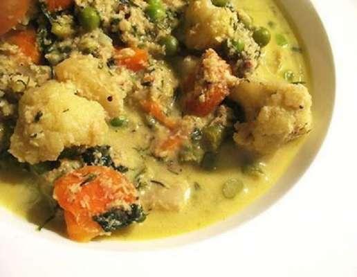 Coconut Vegetable Mix Recipe In Urdu